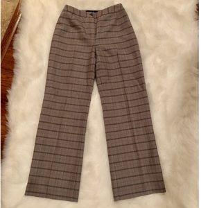 HARVE BENARD Chic Checkered 100% Wool Trousers
